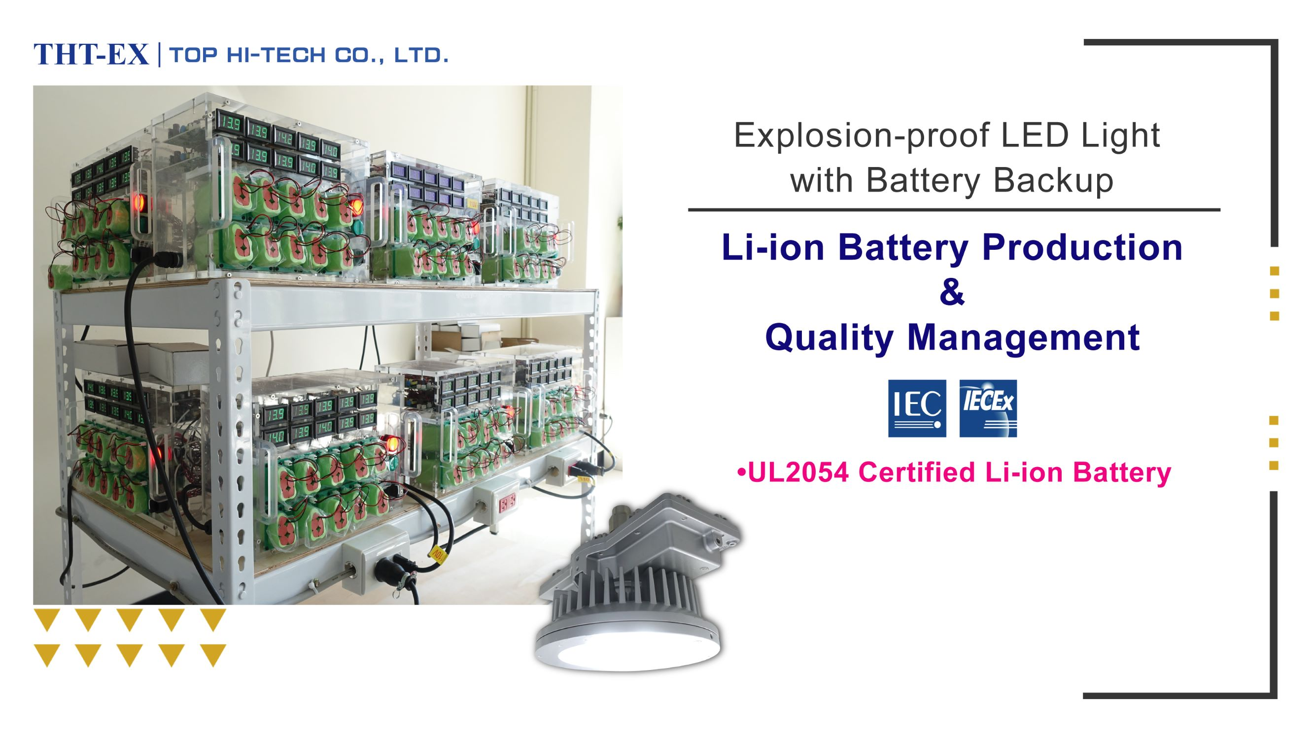 Hazardous Location LED Lighting's Battery Production & Quality Inspection Records